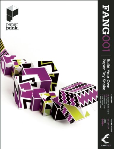 Build Your Own Paper Toy Snake By Created by Paper Punk