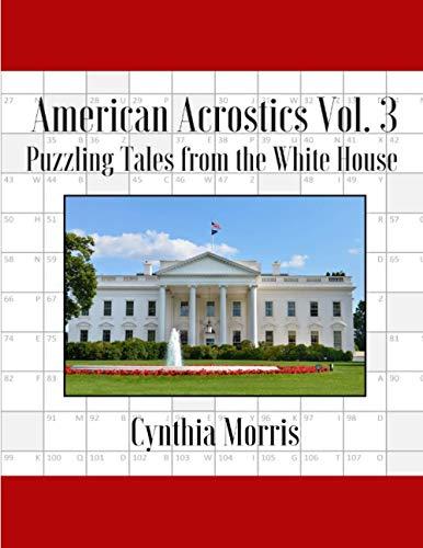 American Acrostics Volume 3 By Professor Cynthia Morris