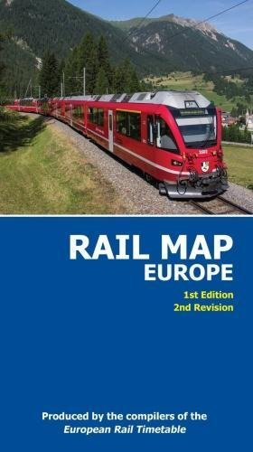 Rail Map of Europe By European Rail Timetable Limited