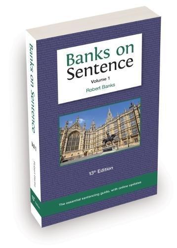 Banks on Sentence 2018 Volume One By Robert Banks