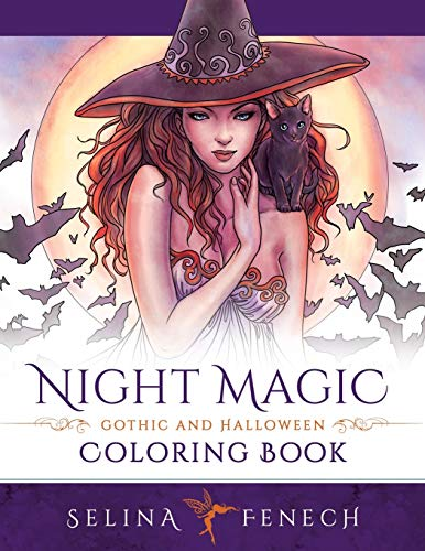 Night Magic - Gothic and Halloween Coloring Book (Fantasy Coloring by Selina) By Selina Fenech
