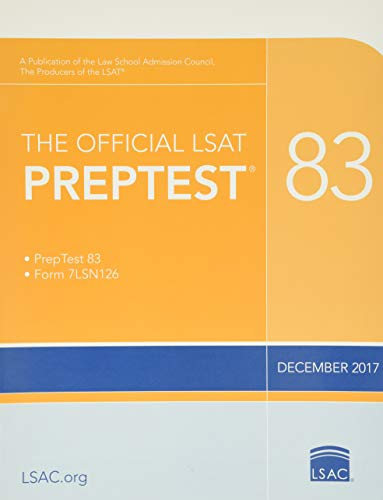 The Official LSAT Preptest 83 By Other Law School Admission Council