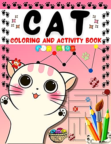 Cat Coloring And Activity Book for Kids By Happy Books For All