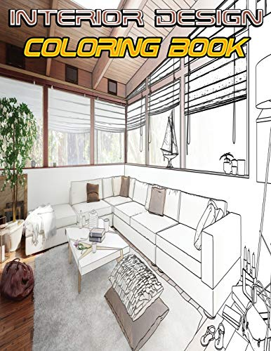 Interior Design Coloring Book By Isabella Hart