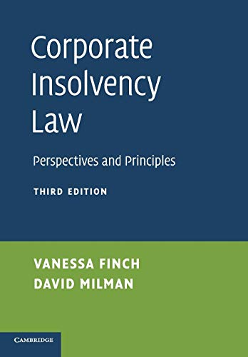 Corporate Insolvency Law By Vanessa Finch (London School of Economics and Political Science)