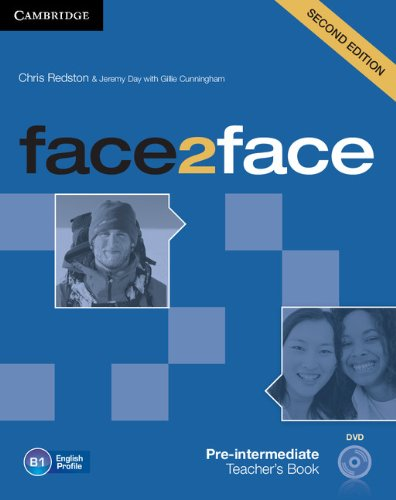 face2face Pre-intermediate Teacher's Book with DVD By Chris Redston