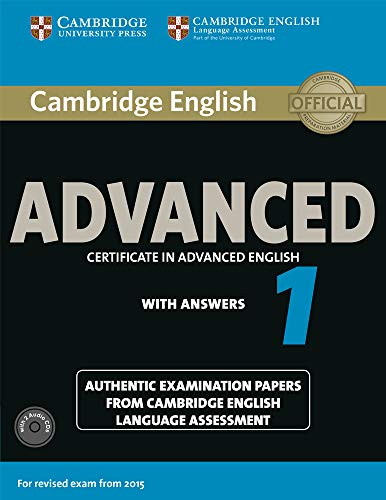 Cambridge English Advanced 1 for Revised Exam from 2015 Student's Book Pack (Student's Book with Answers and Audio CDs (2)) By Cela