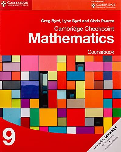 Cambridge Checkpoint Mathematics Coursebook 9 von Greg Byrd