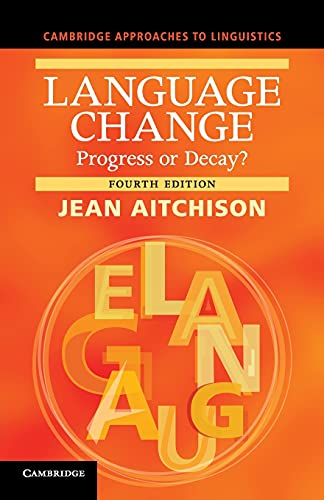Language Change By Jean Aitchison (University of Oxford)