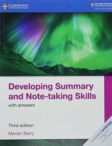 Developing Summary and Note-taking Skills with Answers (Cambridge International IGCSE) By Marian Barry