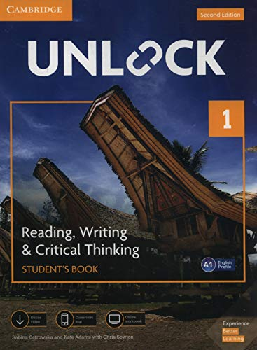 Unlock Level 1 Reading, Writing, & Critical Thinking Student's Book, Mob App and Online Workbook w/ Downloadable Video By Sabina Ostrowska