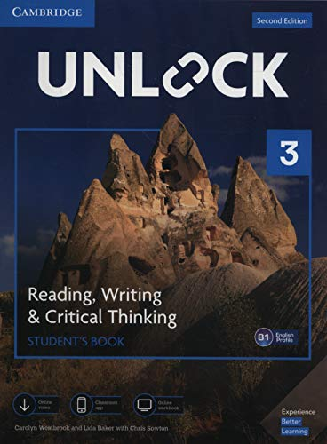 Unlock Level 3 Reading, Writing, & Critical Thinking Student's Book, Mob App and Online Workbook w/ Downloadable Video By Carolyn Westbrook