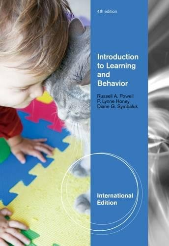 Introduction to Learning and Behavior By P. Honey