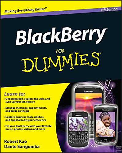 BlackBerry For Dummies By Robert Kao