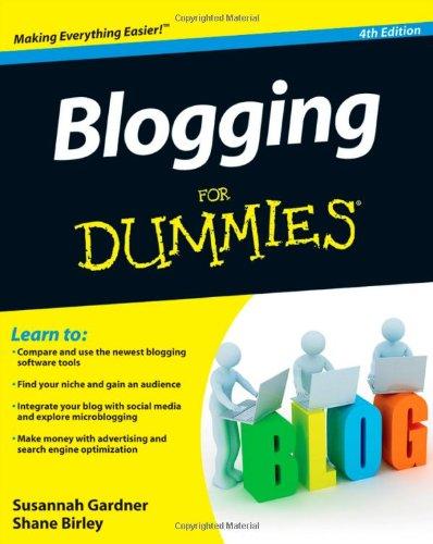 Blogging For Dummies By Susannah Gardner