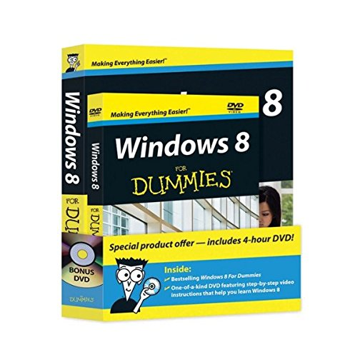 Windows 8 For Dummies Book + DVD Bundle By Andy Rathbone