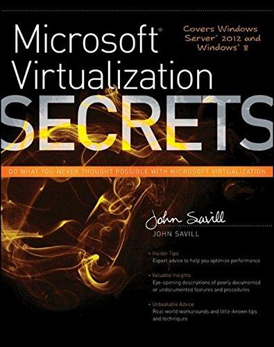 Microsoft Virtualization Secrets By John Savill