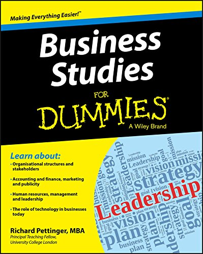 Business Studies For Dummies By Richard Pettinger