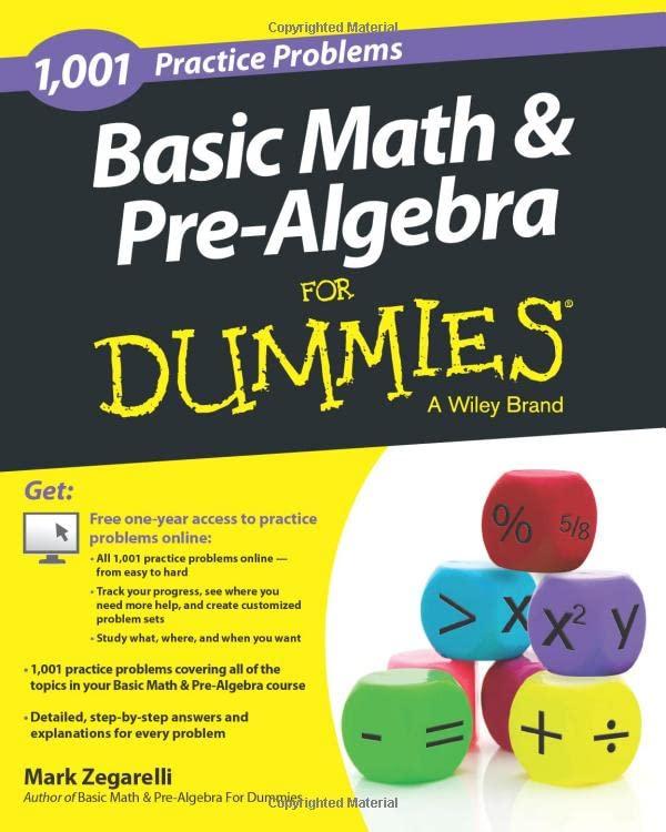 Basic Math and Pre-Algebra By Mark Zegarelli