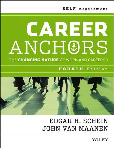 Career Anchors By Edgar H. Schein