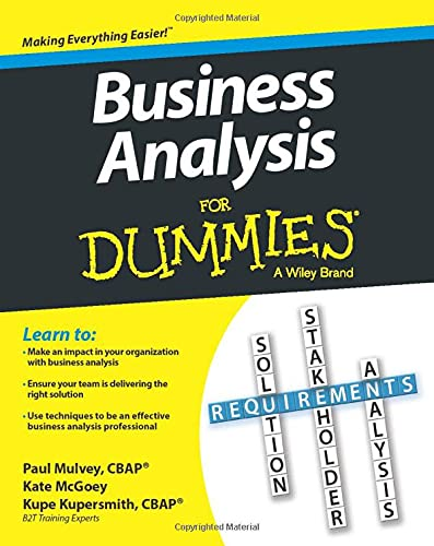 Business Analysis For Dummies By Kupe Kupersmith