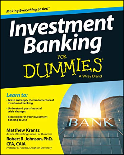 Investment Banking For Dummies By Matt Krantz