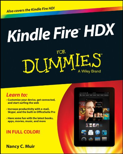 Kindle Fire HDX For Dummies By Nancy C. Muir