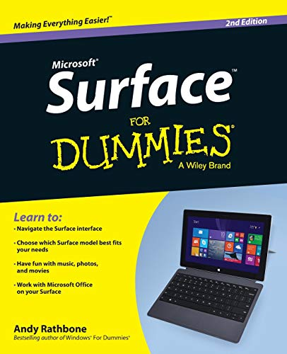 Surface For Dummies By Andy Rathbone