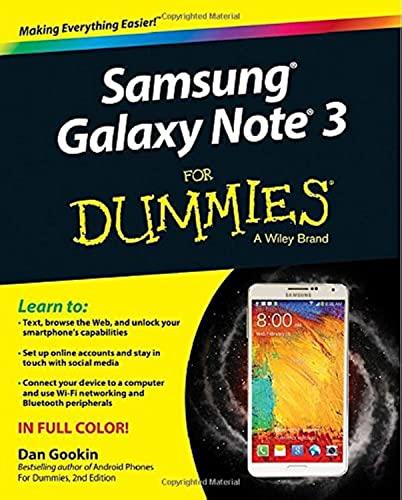 Samsung Galaxy Note 3 for Dummies By Dan Gookin