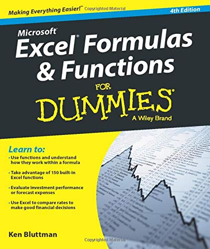 Excel Formulas and Functions FD 4e (For Dummies) By Ken Bluttman