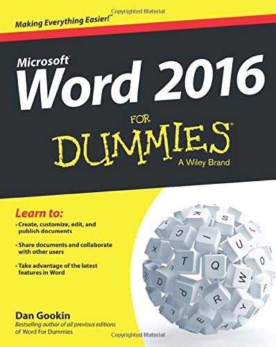 Word 2016 For Dummies By Dan Gookin