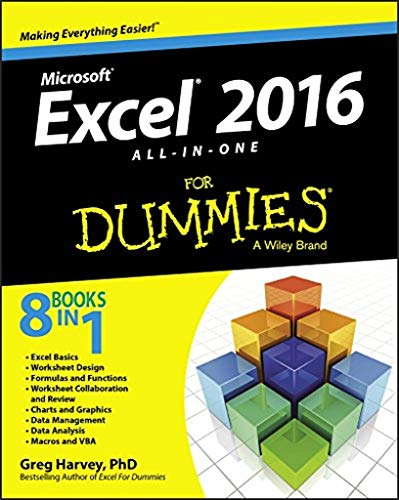 Excel 2016 All-In-One For Dummies By Greg Harvey