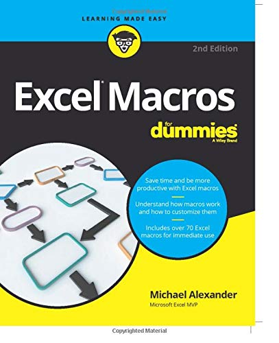 Excel Macros For Dummies (For Dummies (Computers)) By Michael Alexander (McKinney, TX)