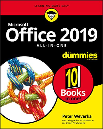 Office 2019 All-in-One For Dummies (Office All-in-one for Dummies) By Peter Weverka