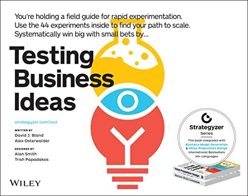 Testing Business Ideas By David J. Bland