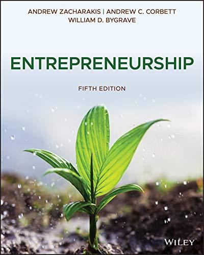 Entrepreneurship By Andrew Zacharakis