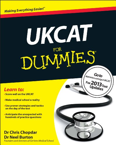 UKCAT For Dummies By Chris Chopdar