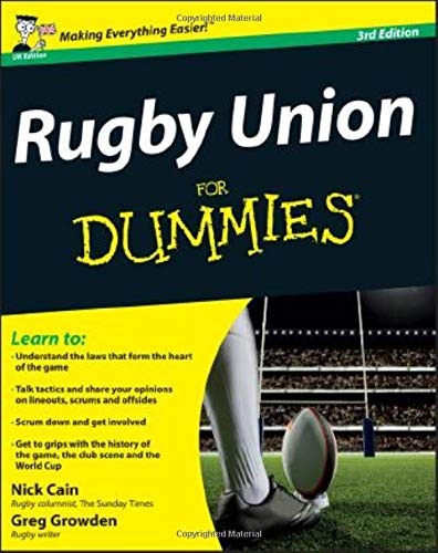 Rugby Union For Dummies By Nick Cain