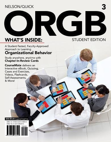 ORGB 3, Student Edition (with CourseMate and Transitions 2.0 Printed Access Card) By James Quick (The University of Texas at Arlington)