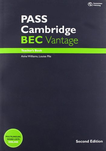PASS Cambridge BEC Vantage: Teacher's Book + Audio CD By Marjorie Rosenberg
