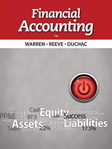 Financial Accounting By Carl Warren (University of Georgia, Athens)