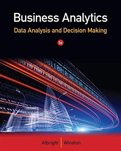 Business Analytics By Wayne Winston (Indiana University, School of Business (Emeritus))
