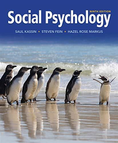 Social Psychology By Saul M. Kassin
