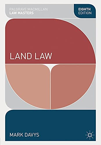 Land Law By Mark Davys
