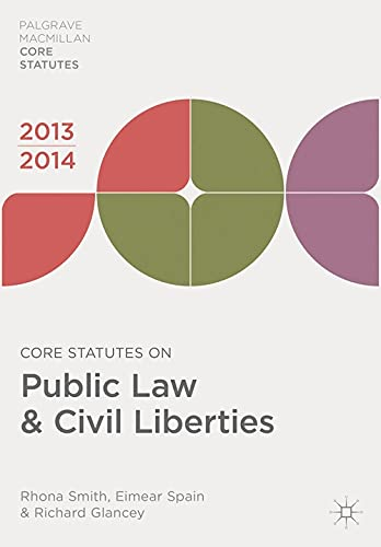 Core Statutes on Public Law & Civil Liberties By Rhona Smith