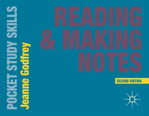 Reading and Making Notes (Pocket Study Skills) By Jeanne Godfrey