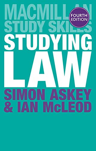 Studying Law (Macmillan Study Skills) By Simon Askey