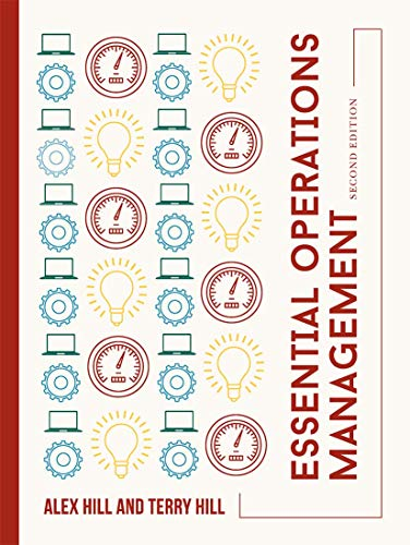 Essential Operations Management By Alex Hill
