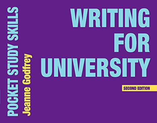 Writing for University (Pocket Study Skills) By Jeanne Godfrey