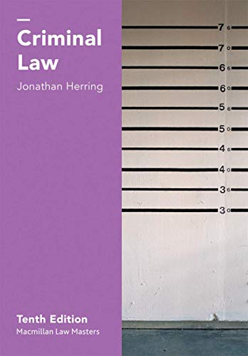 Criminal Law (Macmillan Law Masters) By Jonathan Herring
